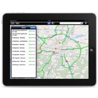 Kostenloses Verkehrsinformations-App für iPhone und iPad